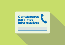 Contact information card in Spanish