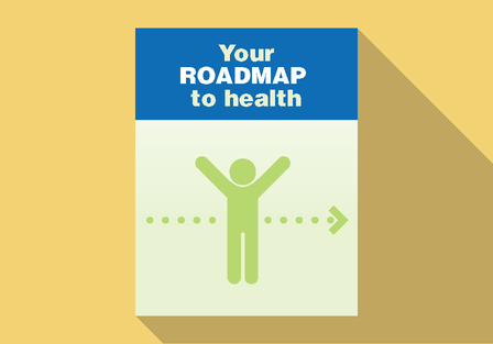 illustration of poster reading: Your roadmap to health