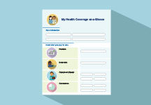 illustration of front cover of My Health Coverage at-a-Glance resource
