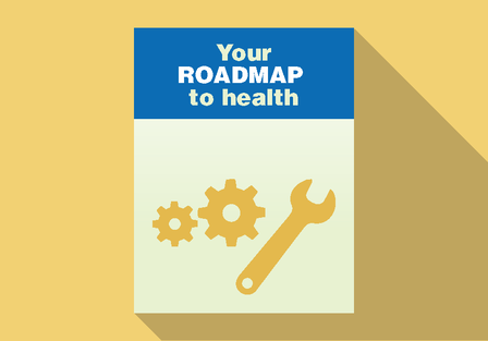 icon of the cover of a manual, the title is The Roadmap to Health