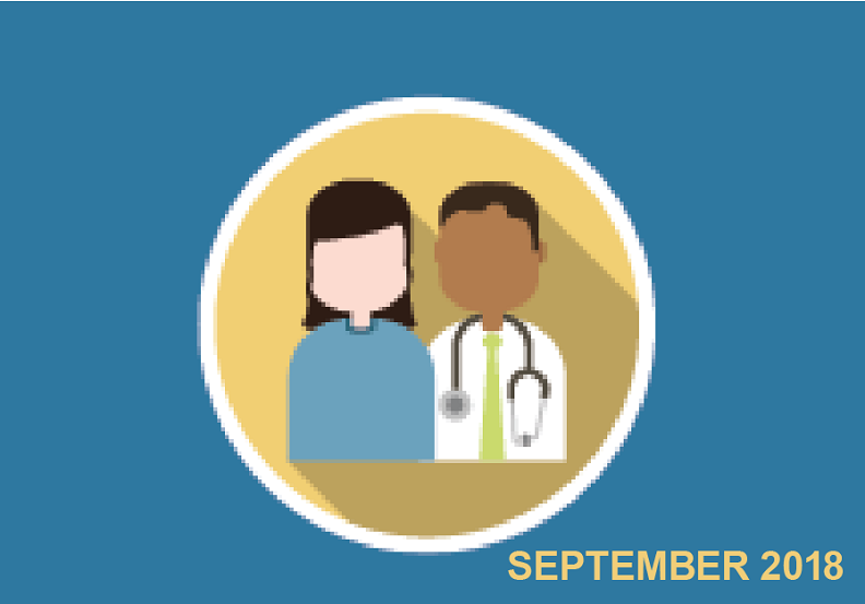 illustration of patient and doctor with September 2018 written on the bottom right corner