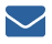 Light blue box with the a dark blue image of an envelope in the middle that indicates sign up for e-mails.