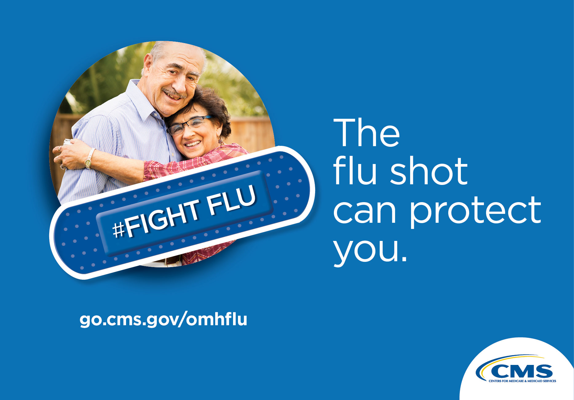 #Fight Flu.  The flu shot can protect you.  go.cms.gov/omhflu