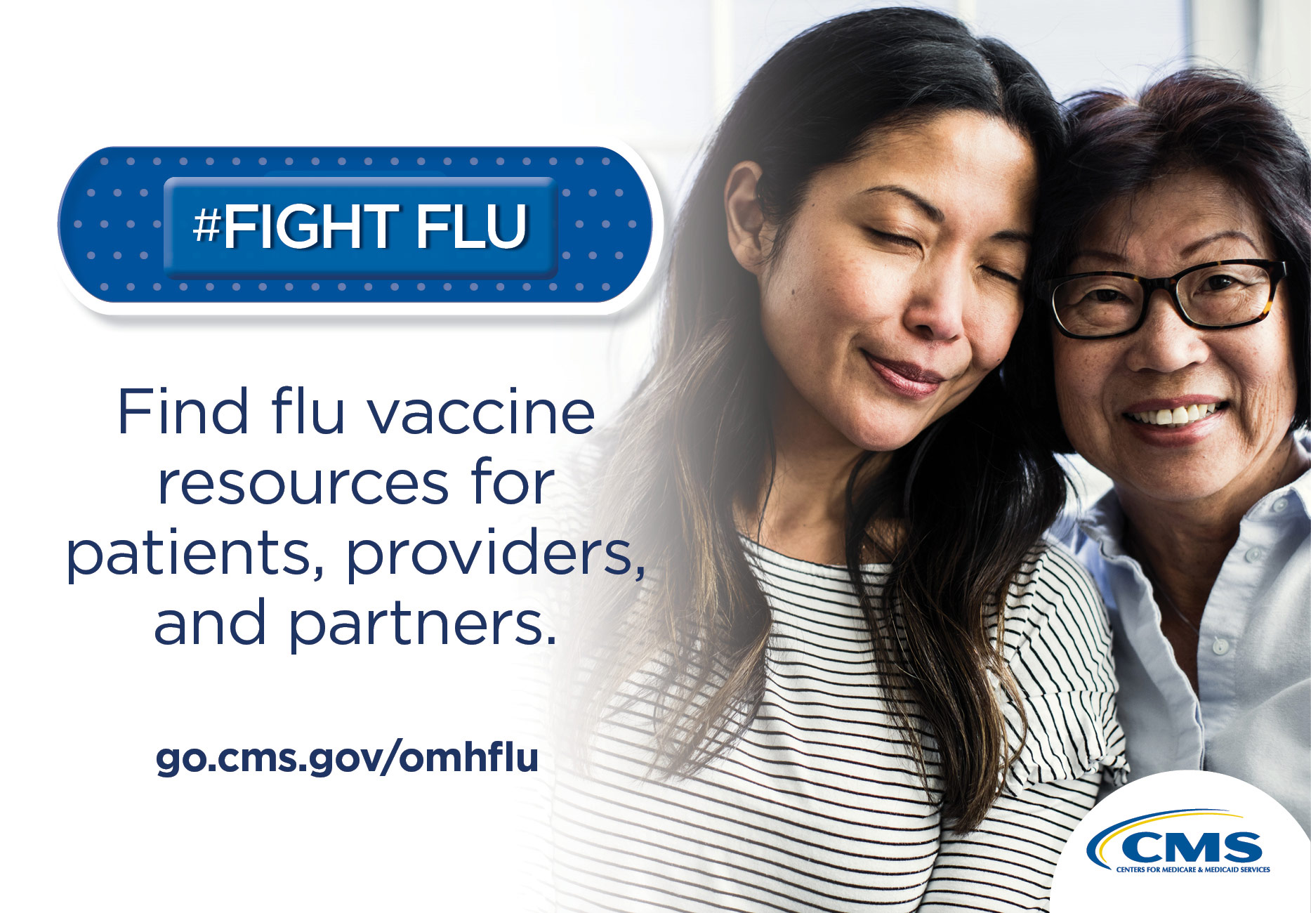 #Fight Flu.  Find flu vaccine resources for patients, providers, and partners.  go.cms.gov/omhflu